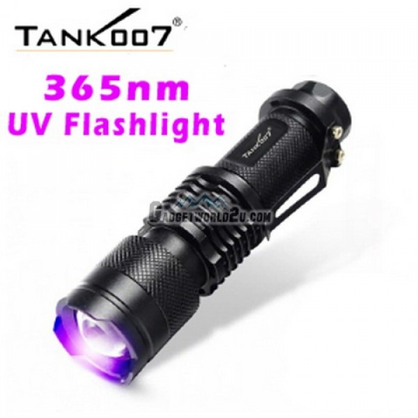 Tank007 F1 365nm UV Ultra-Violet Zoom Flashlight