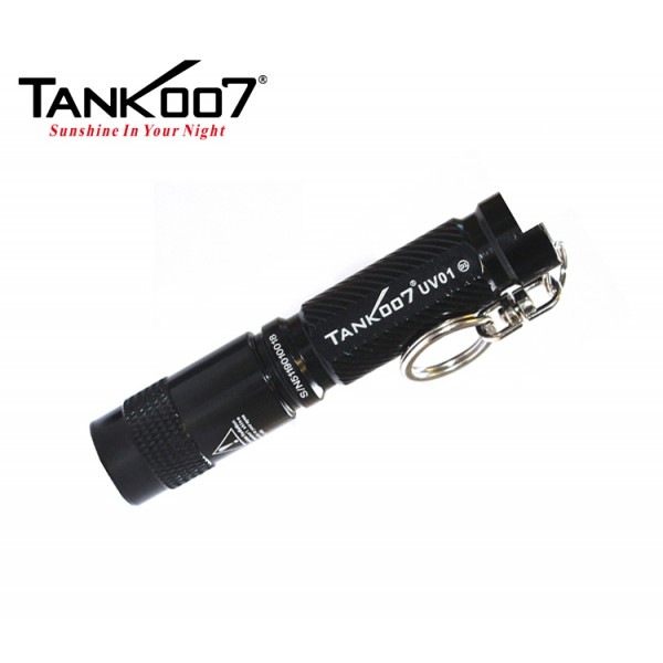 Tank007 UV01 365nm UV Ultra-Violet Keychain Flashlight