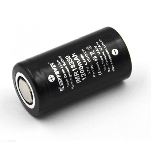 Keeppower IMR 18350 1200mAh Rechargeable Battery UH1835P