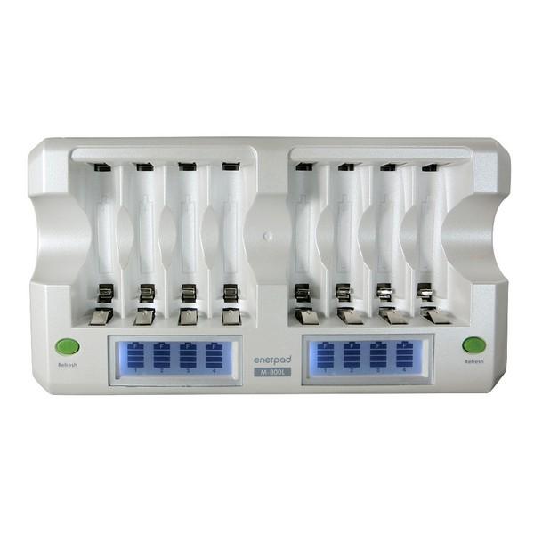 Enerpad 8 Slot NiMH NiCD AA AAA Battery Charger M-800L