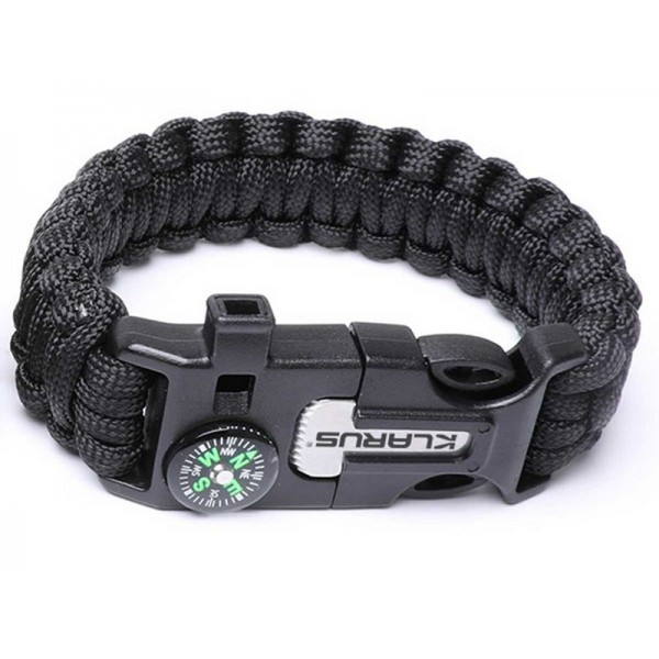 Klarus 5 in 1 Paracord Survival Bracelet  Multitool Black