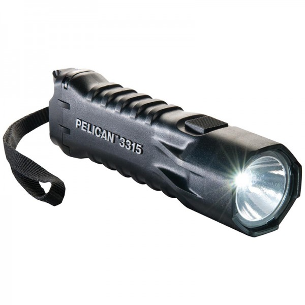 Pelican 3315 Safety Certifed 160L LED Flashlight BLACK