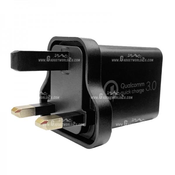 Xtar 18W UK 3pin QC 3.0 Wall Charger Adapter DBS15QB
