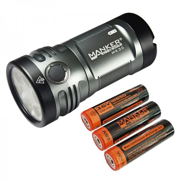 Manker MK36 CREE XHP50.2 3V CW LED 12000L Flashlight w Battery
