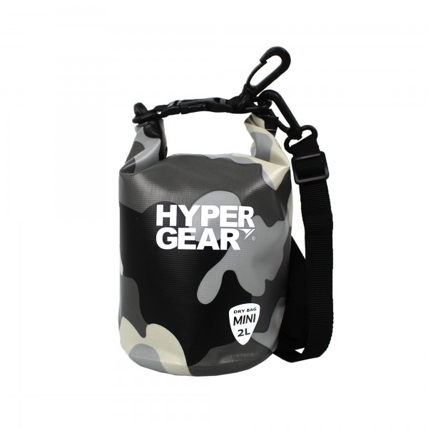 Hypergear Dry Bag Mini Water Resistant 2 Liter Camo Grey Alpha
