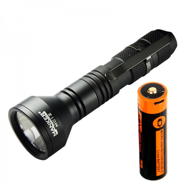 Manker MC12 OSRAM KR CSLNM1.23 Red LED 250L Flashlight