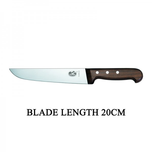 Victorinox RoseWood 20cm Rigid Wood Broad Blade Butcher Knife 5.5200.20