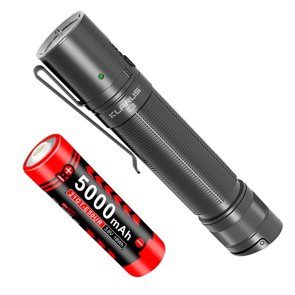 Klarus E3 CREE XHP35 HI LED 2200L USB Rechargeable Flashlight