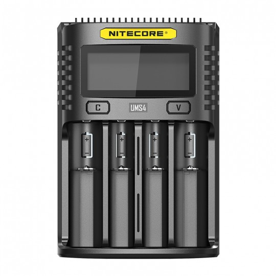 Nitecore UMS4 Intelligent USB QC 3A Charging Four-Slot Li-ion NiMH Battery Charger