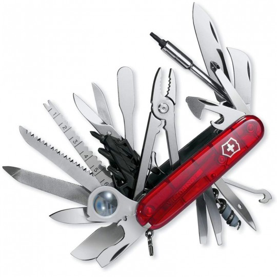 Victorinox Swiss Champ XLT Transparent Red Multitool 1.6795.XLT