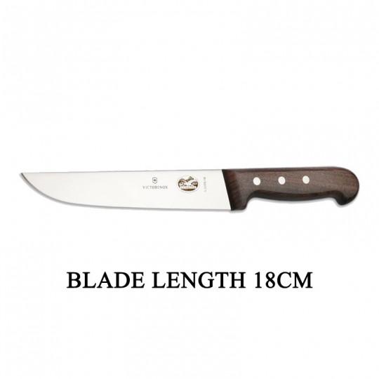 Victorinox RoseWood 18cm Rigid Wood Broad Blade Butcher Knife 5.5200.18