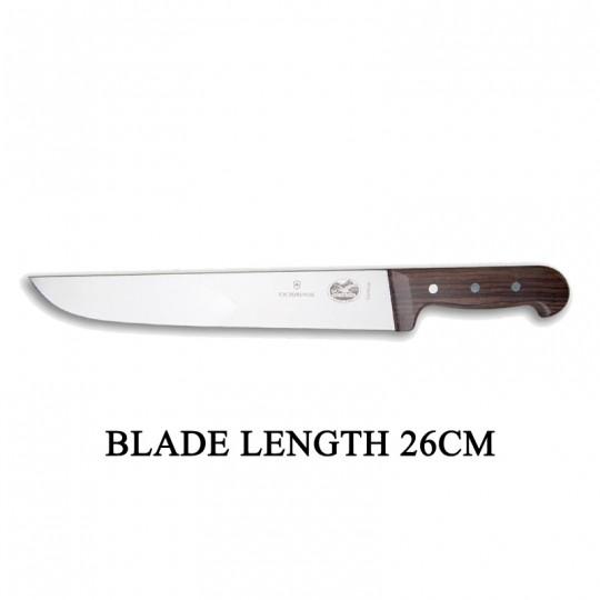 Victorinox RoseWood 26cm Rigid Wood Broad Blade Butcher Knife 5.5200.26
