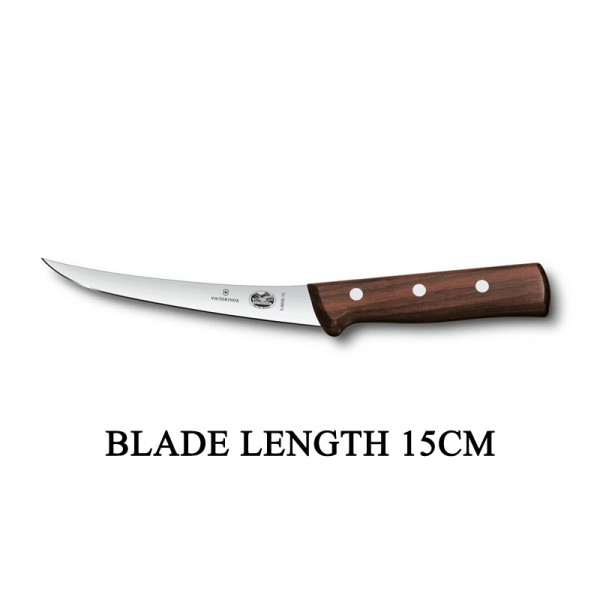 Victorinox RoseWood 15cm Rigid Wood Boning Knife 5.6606.15