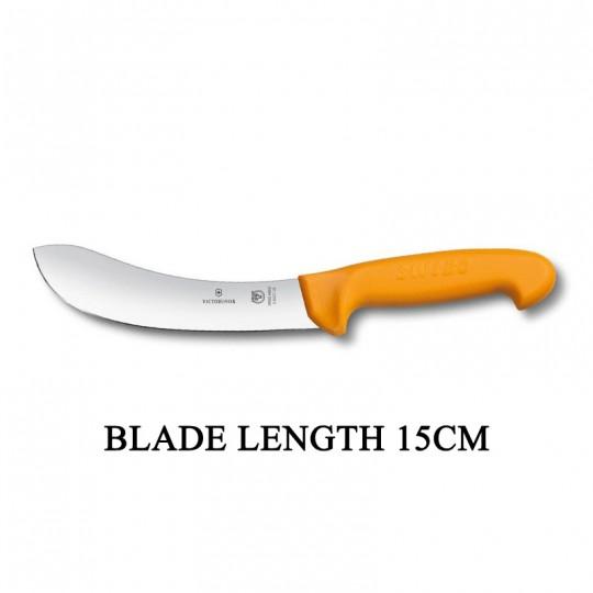 Victorinox Swibo 15cm Widened Tip Curved Rigid Blade Skinning Knife 5.8427.15