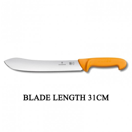 Victorinox Swibo 31cm Widened Tip Curved Rigid Slaughter Butcher Knife 5.8436.31