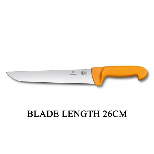 Victorinox Swibo 26cm Wide Straight Rigid Slaughter Butcher Knife 5.8431.26
