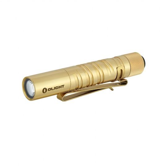 Olight I3T EOS Brass Dual-Output Luxeon TX CW LED 180L Flashlight