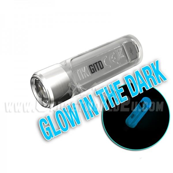Nitecore TIKI GITD BLUE w UV & HCRI White LED Keychain 300L Rechargeable Flashlight