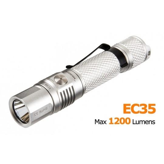 AceBeam EC35 CREE XP-L LED 1200 Lumens Flashlight - Silver