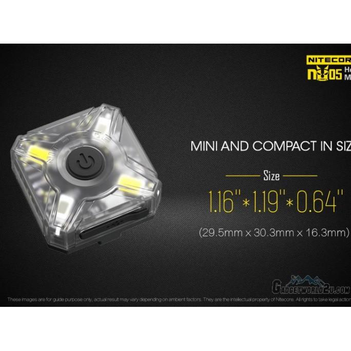 Nitecore NU05 White & Red Light USB Rechargeable Headlamp Kit